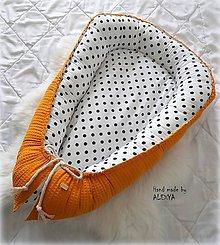 Textil - Hniezdo pre bábätko z vafle bavlny v horčicovej farbe - 10453952_