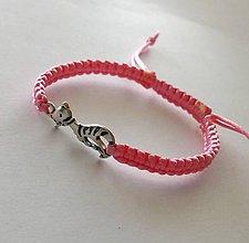 Náramky - S mačičkou (ružová svetlá) - 10456249_