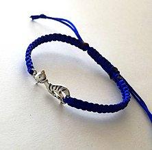 Náramky - S mačičkou (modrá) - 10456258_