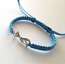 Náramky - S mačičkou (modrá svetlá) - 10456285_