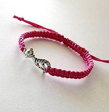 Náramky - S mačičkou (ružová) - 10456293_