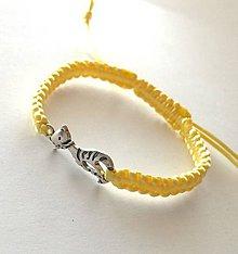 Náramky - S mačičkou (žltá svetlá) - 10456294_