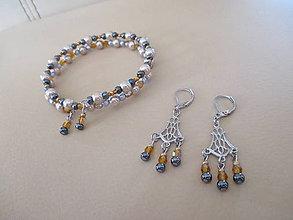 Sady šperkov - Náramok s náušnicami - chirurgická oceľ - 10453865_