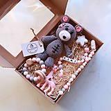 Hračky - Darčekový set pre detičky - ružová - 10456446_