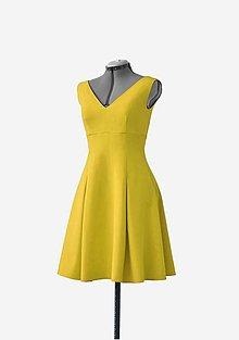 Šaty - Midi šaty s vreckami - 10455931_