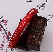 Galantéria - stuha saténová červená s bodkami 10mm - 10452577_