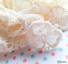 Galantéria - vintage krajka/krajkové kvety - 10452926_