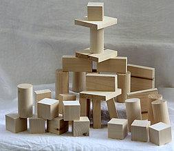 Hračky - Drevené hračky. Stavebnica. - 10453320_