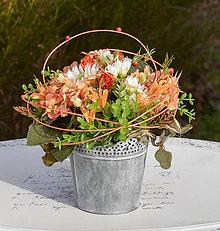 Dekorácie - Oranžová dekorácia na stôl - 10452286_