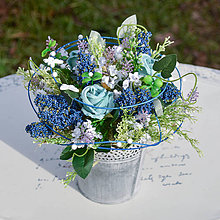 Dekorácie - Modrá dekorácia na stôl - 10455723_
