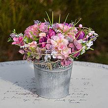 Dekorácie - Ružová dekorácia na stôl - 10456172_