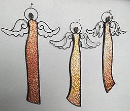 Dekorácie - Vitrážny anjel na stenu - 10455836_