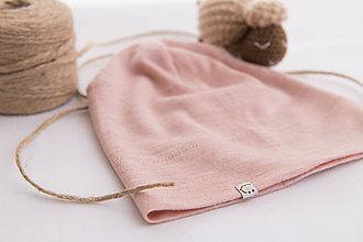 Čiapky - Dvojvrstvová čiapka ružová - deti aj dospelák - 10452239_