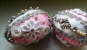 Dekorácie - Ružovobiela kraslica - 10455394_