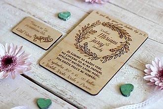 Papiernictvo - Drevené svadobné oznámenie 7 - 10454299_