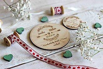 Papiernictvo - Drevené svadobné oznámenie 9 - 10454397_