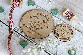 Papiernictvo - Drevené pozvanie k svadobnému stolu 9 - 10454417_