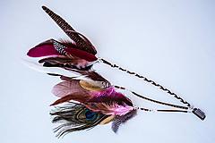 Ozdoby do vlasov - Ružový bohémsky festival hair clip - 10453956_