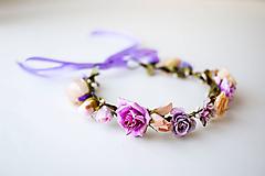 Ozdoby do vlasov - Letný kvetinový venček - 10454461_