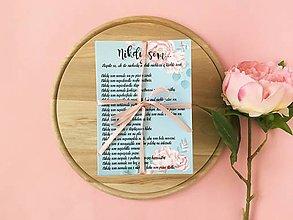 Darčeky pre svadobčanov - Nikdy som ... mint roses - 10453532_