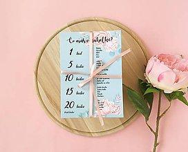 Darčeky pre svadobčanov - Čo máš v kabelke? mint roses - 10453566_