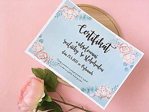 Darčeky pre svadobčanov - Certifikát na rozlúčku so slobodou - 10453581_