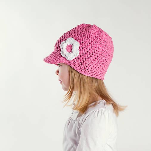 Šmrncovka ~ háčkovaná šiltovka/čiapka