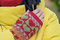 Rukavice - srdiečkové rukavice - 10455930_