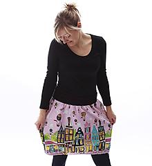 Sukne - Domečková sukně s příběhem... - 10453851_