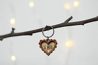 Kľúčenky - Kľúčenka SI MOJE ♥ - 10454727_