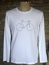 Oblečenie - Pánske tričko z organickej bavlny BIKE dlhý rukáv - 10454378_