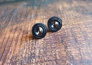 Náušnice - Náušnice čierne tajomstvo - 10455388_