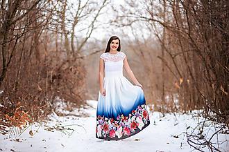 Sukne - Dámska sukňa dlhá  Kvety dúhy - 10453218_