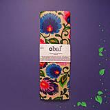 Úžitkový textil - Voskovaný obrúsok - Kvety folkové (25x25cm) - 10455409_