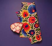 Úžitkový textil - Voskovaný obrúsok - Kvety folkové - 10455411_