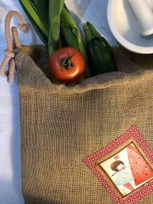 Úžitkový textil - Jutové vrecko - VIKI II - 10455127_