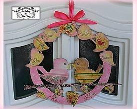 """Dekorácie - Celoročný veniec """"Pink"""" :) - 10455098_"""