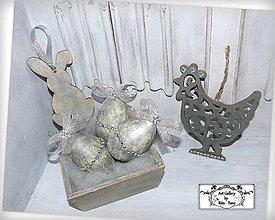 """Dekorácie - Velkonočny setík """"Silver"""" :) AKCIA! - 10455150_"""