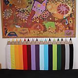 Detské doplnky - Zástena Ceruzky progressky 5cm hrubá - 10452580_