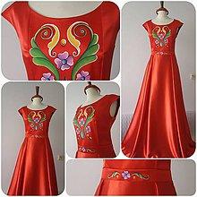 Šaty - Ručne maľované spoločenské šaty - 10452518_