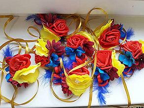 """Dekorácie - Pestré  """"ľudové"""" kvetované mašličky - 10453680_"""