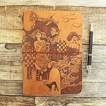 Papiernictvo - Zuzaný - kožený zápisník (midori) - 10452672_