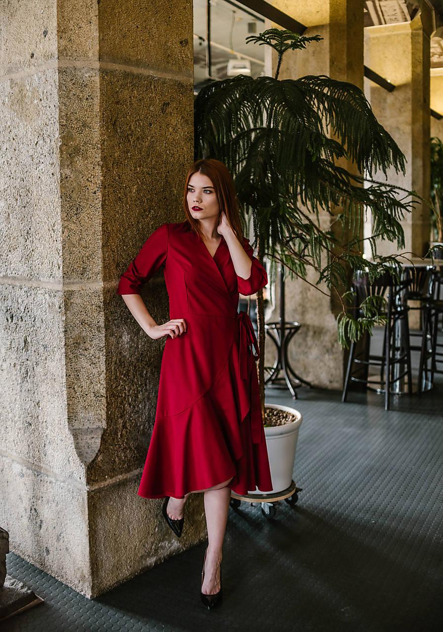Zavinovacie šaty s volánmi   VivienMihalish - SAShE.sk - Handmade Šaty de6741b639