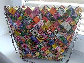 Veľké tašky - Crossbody kvetinková - 10452689_