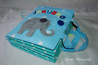 Hračky - obal na knihu  - sloník - 10453636_