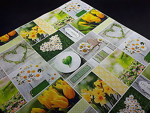 Úžitkový textil - Jarná kolekcia - kvety v záhrade (50×50 cm) - 10458306_