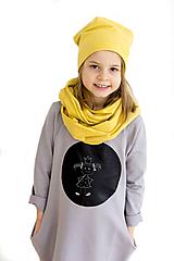 - Detské tabuľové šaty - sivé MD5 - 10456562_