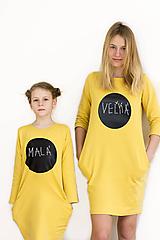 Detské oblečenie - Detské tabuľové šaty - žlté MD4 - 10456582_