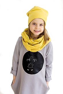 Detské oblečenie - Detské tabuľové šaty - sivé MD5 - 10456562_
