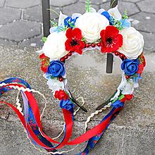 Ozdoby do vlasov - Parta, čelenka, folklórna s makmi a ružami - 10458071_